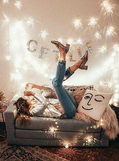 girl, christmas, and decor image
