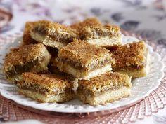 Caramel coconut macaroon slice, caramel recipe, brought to you by Australian…