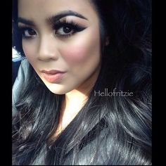 ✨@Sue Fritz Torres✨ looking so #STUNNING! Love her #dramatic #wingliner paired with our Xtreme lashes in #Natalie  ✨Visit us at www.FlutterLashes.com✨ #flutterlashes #beautiful #makeup #lashes