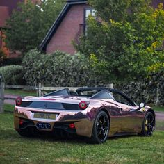 Ferrari 458 spyder wrapped in rose gold chrome. See how this car was wrapped on You tube , search Yiannimize. Pic taken by @has_automotive emoji. @wrapapp #wrapapp