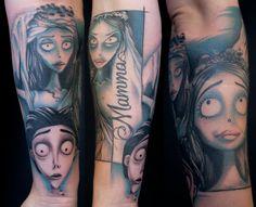 Corpse Bride tattoo by Jacob Pedersen