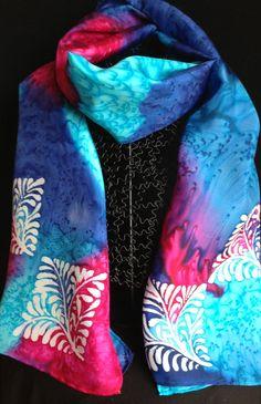 Frontière de foulard en soie 14 x 72 organiques Organique, Foulards, Art De  La 6880487509b