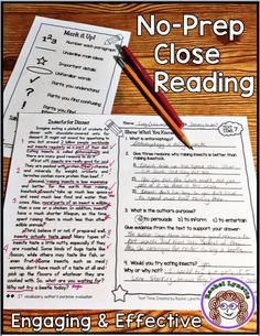 Get engaging, kid-friendly close reading passages with standard-based, text-dependent questions all on the same page with this ready-to-use resource.   #closereading #noprep #reading