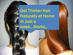 How to Get Thicker hair Naturally at home,How to make your hair thicker.. - YouTube