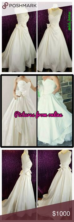 Spotted while shopping on Poshmark: Priscilla of Boston Ivory Silk wedding dress! #poshmark #fashion #shopping #style #vineyard collections #Dresses & Skirts