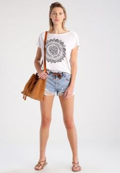 Even&Odd - Camiseta print - white