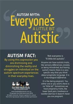 Autism Myth: Everyone's A Little Bit Autistic #autism #autistic #autismawareness