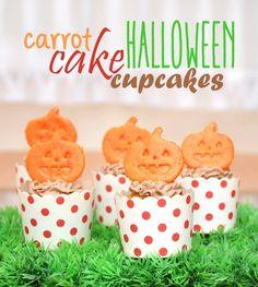 Carrot cake Halloween cupcake #carrot #cake #halloween #cupcake