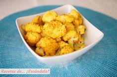 Deliciosa, sana, fácil y rápida receta de coliflor al horno, aromatizada con una variedad de especias que puedes adaptar a tu gusto. ¡Queda riquísima!