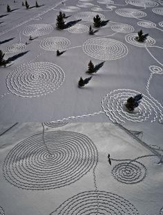 snow drawing by Sonja Hinrichsen