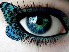 Woooaaaahhhh que bonito este #maquillaje en el ojo