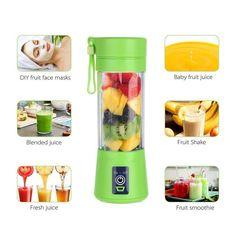BPA Free Electric Portable Rechargeable Mini Fruit Juice Cup And Mixer Usb Blender Juicer Milkshake Blender, Top Juicers, Juicing With A Blender, Juice Blender, Portable Blender, Baby Fruit, Best Juicer, Juice Cup, Blender Bottle