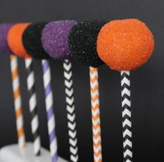 Halloween Multi Colored Cake Pops with by TheMadPlatterKitchen