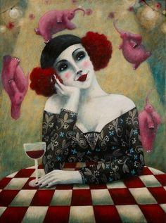 Wine Art ........Johanna Perdu - alias La D'Jo - Nancy #women&wine