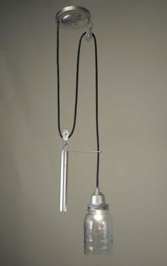 recycled pulley lighting
