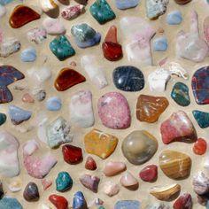 Tileable Mosaic Multicolored Pebbles Texture + (Maps) | texturise