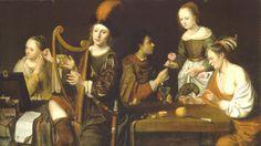 Herman van Aldewereld (Dutch: 1629 - 1669) - Allegory of the five senses