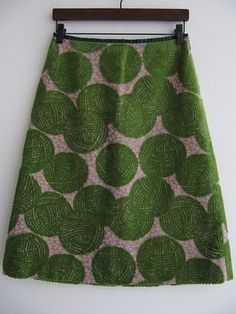 Mina Perhonen skirt - woolly ball textile