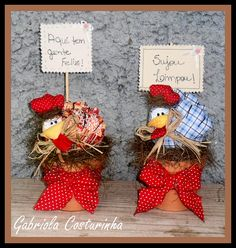 ♥♥ Vasinhos com mini galinhas ♥♥ | Flickr – Compartilhamento de fotos!