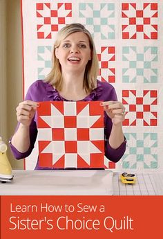 The sister's choice quilt block is a tradition over 100 years old, but use contemporary fabrics for a fresh look! Make this quilt block using a free pattern.