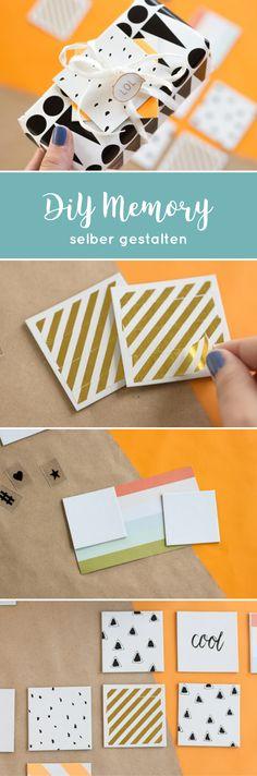 Eine Geschenkidee für jung und alt: Memory Spielkarten selbst gestalten.