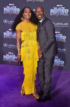 "Angela Bassett – Disney & Marvel's ""Black Panther"" Premiere in Hollywood Angela Bassett Style, Outfits and Clothes. Black Love, Black Is Beautiful, Beautiful People, Black Panther 2018, Black Panther Marvel, Black Couples, Hot Couples, Famous Couples, Black Actors"