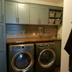 cool small laundry room ideas to feel comfort inside (worth applicated 16 Small Laundry Rooms, Laundry Room Organization, Laundry Room Design, Laundry Area, Garage Laundry, Organizing, Laundry Room Inspiration, Laundry Room Remodel, Closet Storage