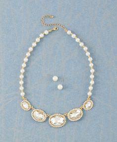 Brilliant Pearls Jewelry Set