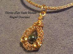 Collier maille viking chaîne et pendentif par FeeriesdunVasteMonde