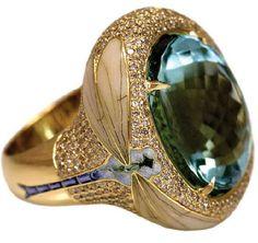 Ilgiz Fazulzyanov  ring with enamel details
