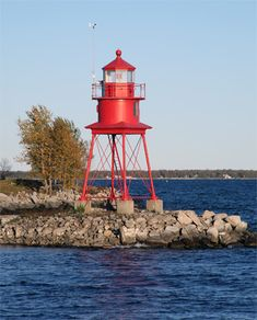 Alpena Lighthouse, also known as the Thunder Bay River Lighthouse or Alpena Breakwater Light, is a lighthouse on Lake Huron near Alpena, Michigan. Michigan Travel, Lake Michigan, Alpena Michigan, Candle On The Water, Lake Huron, Beacon Of Light, Water Tower, Great Lakes, Places To Visit