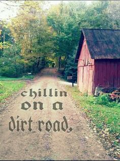 Chilled on a dirt road