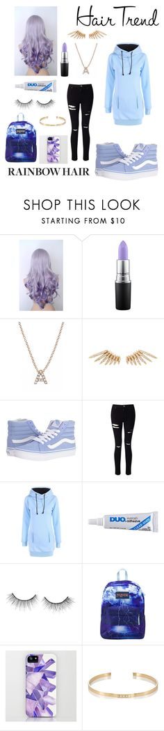 """🦄🌈🌈🌈"" by miamigirl9x ❤ liked on Polyvore featuring beauty, MAC Cosmetics, Bony Levy, Celine Daoust, Vans, Miss Selfridge, Trish McEvoy, tarte, JanSport and Ileana Makri"