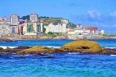 A Coruña La Corogne Galice Espagne 201 - Av Pedro Barrié de la Maza, la plage