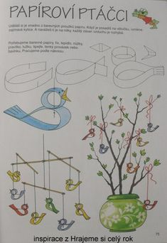 Bilderesultat for krokoták jaro Craft Activities For Toddlers, Spring Activities, Diy And Crafts, Crafts For Kids, Arts And Crafts, Paper Crafts, Spring Animals, Origami And Kirigami, Paper Birds