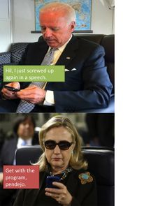 Hilary Texting Memes taking off on the Internet today. :)