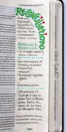 2 Corinthians 5:18 - visual blessings: Everything has Become New - Bible Art Journaling