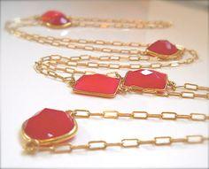 Make a Statement Bezel Set Luxe #Gemstone_Necklace #Wrap Necklace #Chalcedony_Jewelry by #YourDailyJewels, $249.00 #jewelryonetsy #jetteam