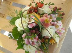 fall wedding bouquet with nature inspired accents. #wedding #flowers by Envy Design