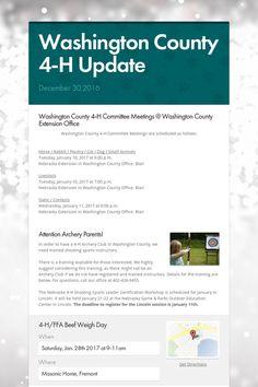 Washington County 4-H Update