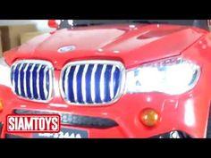 SIAMTOYS - รถเด็ก รุ่น LN3344 ทรง BMW-X5 (สีแดง) - Line id : @siamtoys -...
