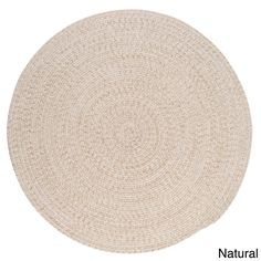Urban Blend Round Braided Rug (Natural - x Round), Ivory, Colonial Mills (Polypropylene, Solid) Oval Rugs, Round Area Rugs, Natural Area Rugs, Natural Rug, Braided Area Rugs, Round Braided Rugs, Braided Wool Rug, Shops, Style Classique