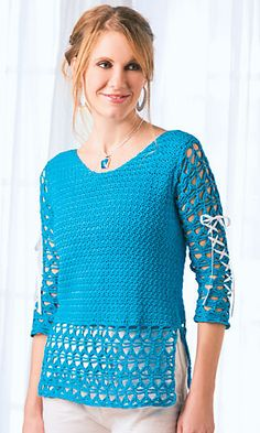 Ravelry: Ribbons & Lace Top pattern by Shannon Mullett-Bowlsby