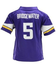 7e57e5dfc Nike Kids  Teddy Bridgewater Minnesota Vikings Game Jersey - Purple 5 6 Minnesota  Vikings