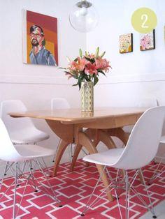 Apartamento 304: sala de jantar e tapete