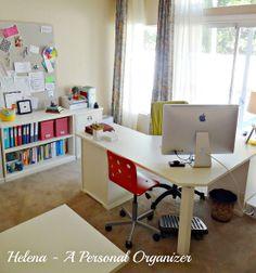 IHeart Organizing - OFFICE shelf organization Use binders, file boxes, magazine files