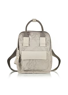 ede79137de Free Spirit Softy Ash Gray Fabric and Leather BackPack