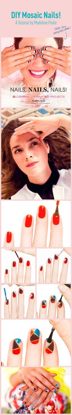 DIY Mosaic Nails! A Tutorial by Madeline Poole   Beautylish