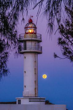 Faro De Taliarte con luna | Gran Canaria, España