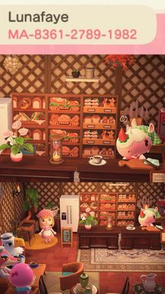 Animal Crossing Cafe, Nintendo Switch Animal Crossing, Animal Crossing Qr Codes Clothes, Animal Crossing Pocket Camp, Animal Games, My Animal, Animal Food, Motif Acnl, Sims